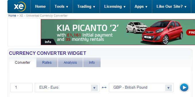 The BUY RATE on the other hand is how much (expressed in £GBP) they will BUY Euros     from you. For example a SELL RATE of 1.3319 means that 1.3319 Euros = £1GBP. In other     words the BUY RATE is the BUY BACK RATE for Euros (in this example) and to calculate this     you need to divide the amount of Euros by 1.3319. In this example you will get back only £75 for     100 Euros.