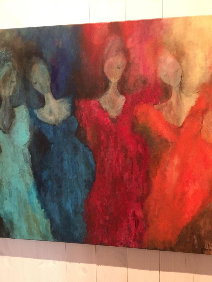 Malerier i akryl. Karina Ravneng