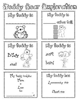Teddy Bear Exploration - Julie Lee - TeachersPayTeachers.com