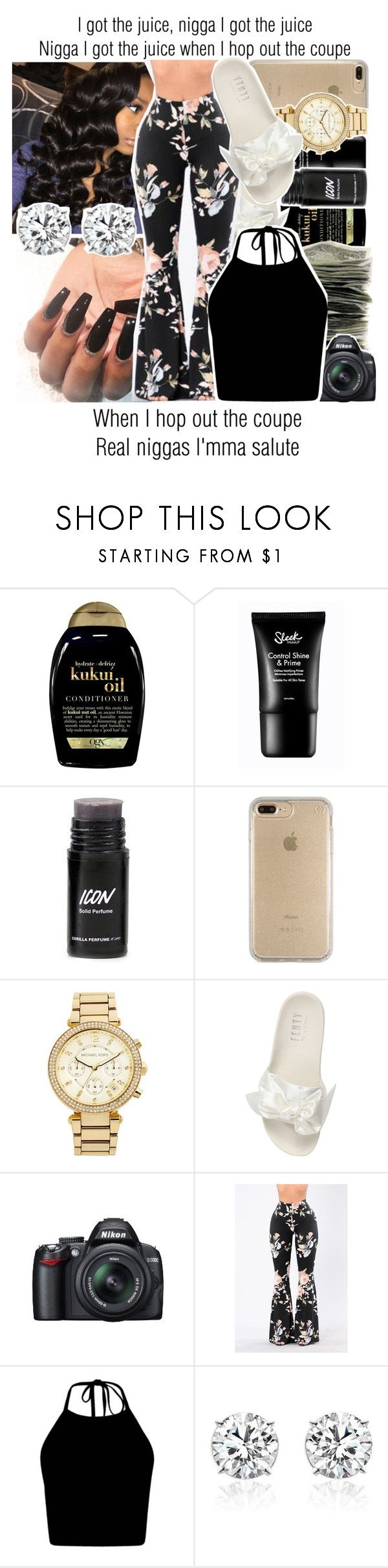 """I Got the Juice x Meek Mill"" by juicyums ❤ liked on Polyvore featuring Organix, Speck, MICHAEL Michael Kors, Puma and Nikon"