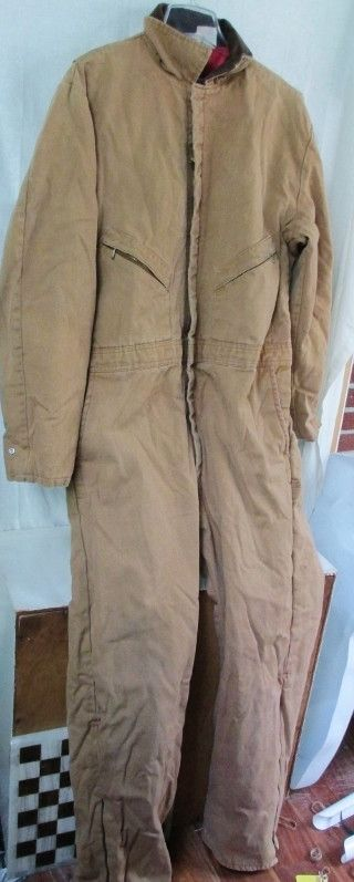 MENS WALLS ZERO-ZONE INSULATED OUTERWEAR Coveralls Jumpsuit BROWN 46-48 XL