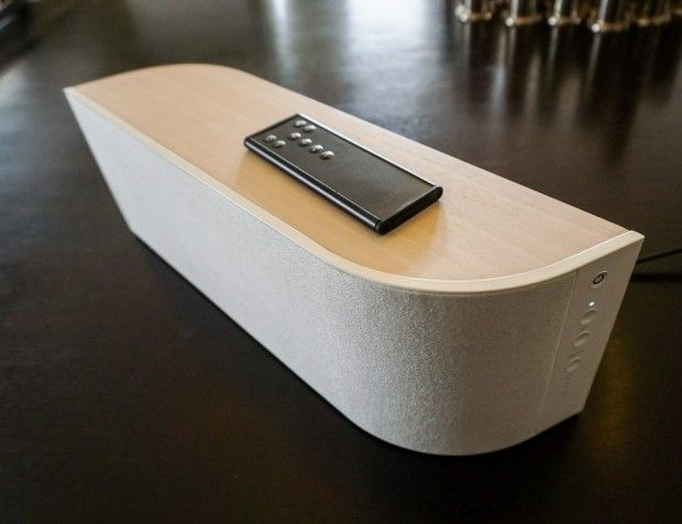 Review: Wren V5US Wireless Speaker - For starters, the Wren V5US is one of the most beautiful wireless speakers you can buy. It's built into a stunning wood enclosure with a flowing sort of organic form, and will look great sitting on any desk or bookshelf. | technabob.com