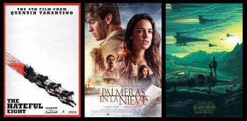 [Top 10] Taquilla Española e Internacional (15-17 Enero)  Quentin Tarantino vuelve por la puerta grande a nuestro país y consigue que su #TheHatefulEight consiga casi 2 millones de euros en su estreno.#PalmerasenlaNieve suma de nuevo una gran semana y supera los 12 millones de euros en su total, convirtiéndola en la octava película más taquillera de 2015. #StarWars #TheForceAwakens por su parte, consigue superar la marca de los 30 millones de euros en nuestro país.