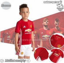 Personnalise Ensemble Maillot Foot Manchester United Rouge Enfant 2016-2017 Domicile | Maillots-Sport
