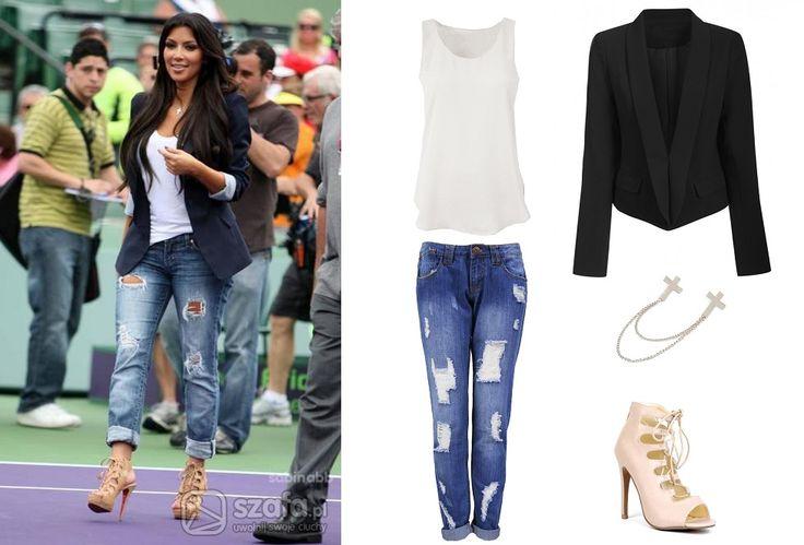 Casualowy zestaw Kim Kardashian, http://magazyn.modadamska.waw.pl/ubierz-sie-w-stylu-kim-kardashian/