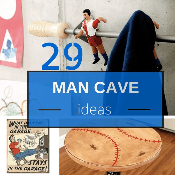 29 Man Cave Ideas - most are DIY projects and things you can actually afford. Start Your Cheap Man Cave Today.