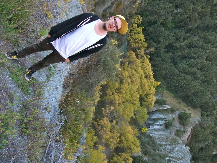 On a cliff top, somewhere near Arrowtown NZ #greatwalker