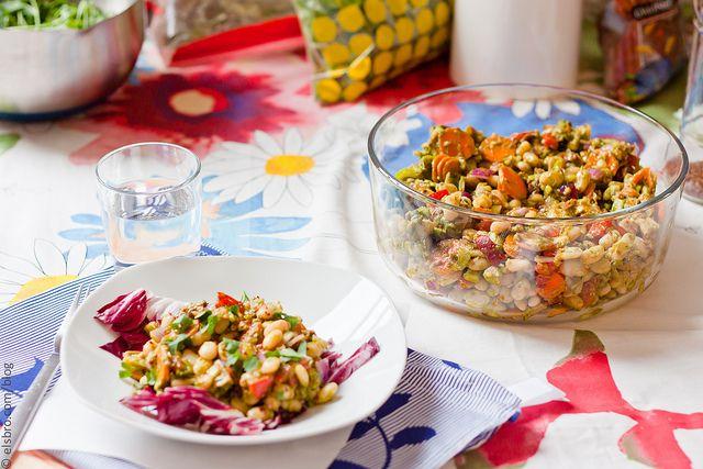 White Bean & Tuna Salad with Parsley Vinaigrette