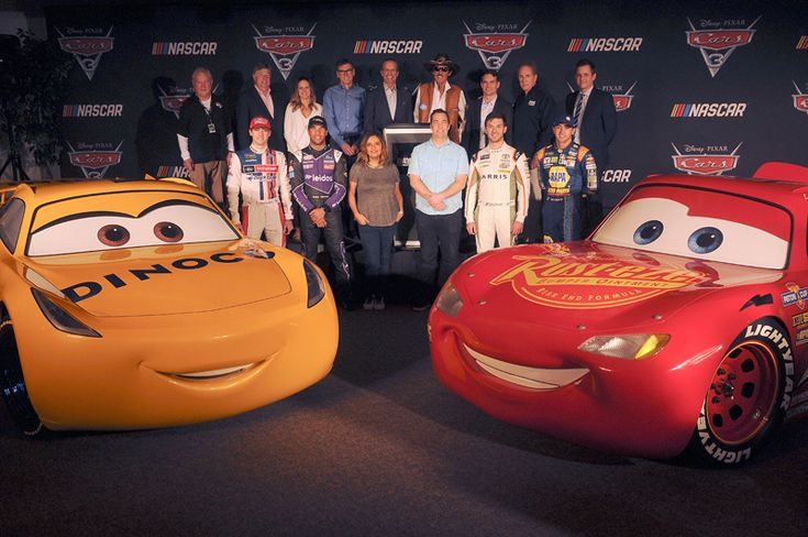 "Meet Two New Cars 3 Characters  -  January 5, 2017:     Cars 3:      DAYTONA BEACH, FL - FEBRUARY 23: (Top L-R) Howard Augustine ""Humpy"" Wheeler, Jr, Mike Joy, Shannon Spake, Ray Evernham, Kyle Petty, Richard ""The King"" Petty, Jeff Gordon, Darrell Waltrip, Zane Stoddard (Bottom L-R) Ryan Blaney, Bubba Wallace, Cristela Alonzo, Brian Fee, Daniel Suarez, and Chase Elliott attend the ""Cars 3"" NASCAR Collaboration Announcement on February 23, 2017 in Daytona Beach, Florida.   More..."