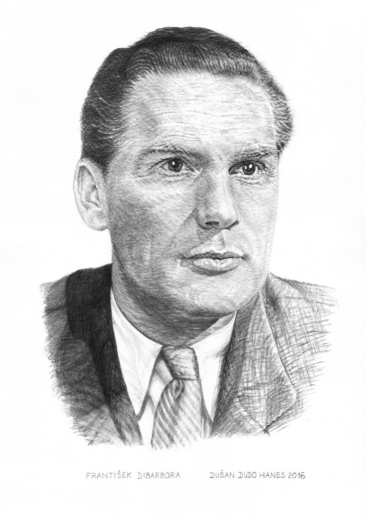 František Dibarbora, portrét Dušan Dudo Hanes