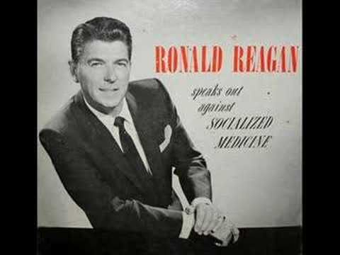 REAGAN ON SOCIALIZED MEDICINE: Just listen to the first 15 seconds. If you like it, listen to the next 60-90 secs. Ronald Reagan was the Greatest President of our generation & he warned us over 50 years ago what was coming our way. Now, just as he cautioned, we are again on the verge of socialized medicine at a time when Social Security & our economy are in peril of collapse. If you make it to 6-7 minute mark, it hits very close to the truths behind Obamacare. You can't say we weren't…