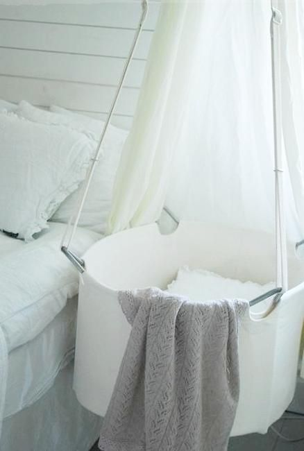 hanging beds and baskets for baby room decor