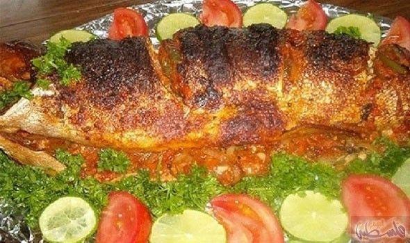 طريقة إعداد سمك الهامور المشوي بالخضار في الفرن Tasty Dishes Cooking Food