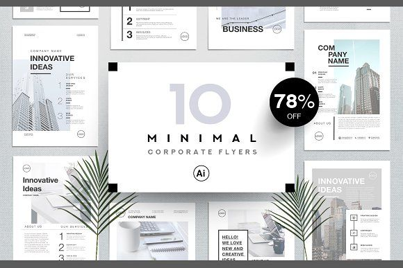 Corporate business flyers bundle by Marie T on @creativemarket #flyers