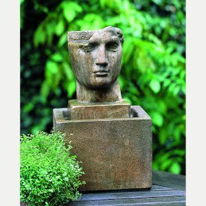 Cara Classica Table Top Fountain Indoor Outdoor classic Victorian feel with a Roman touch. Head shape water feature