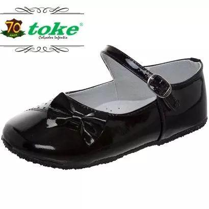 d6354f6a6b sapatilha infantil feminina menina toke couro sapato nº 25 ...