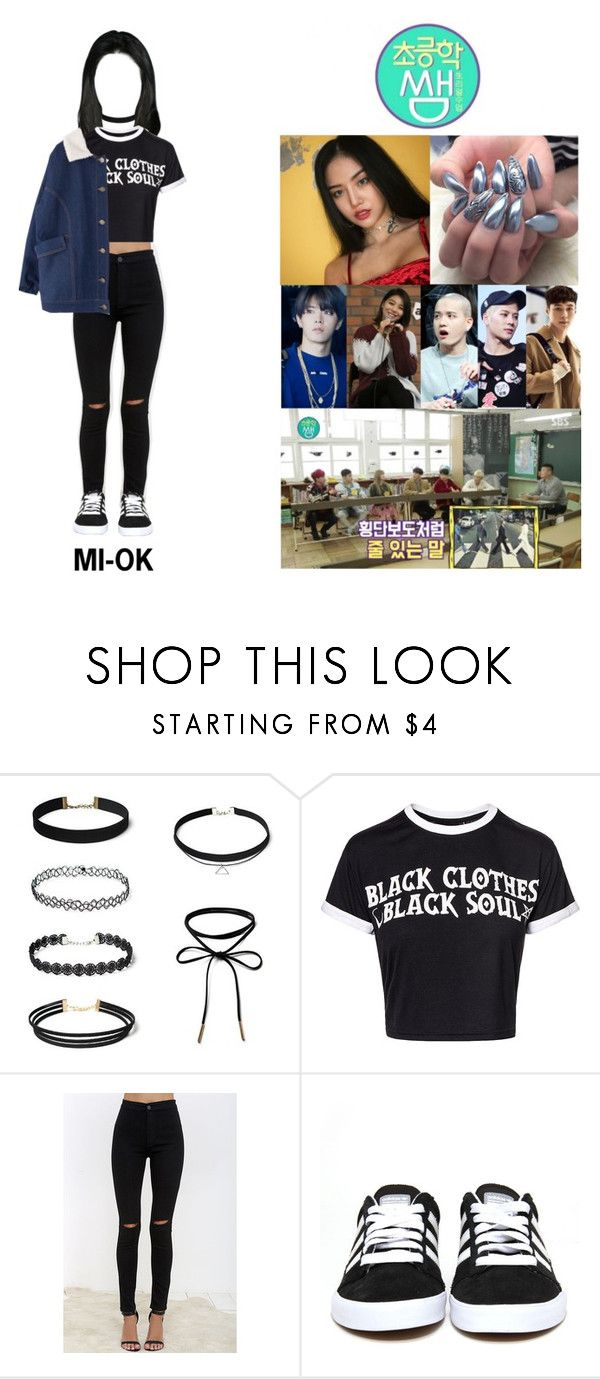 """""""NCTGemz Mi-Ok (""""ELEMENTARY TEACHER"""" WITH OTHER FOREIGN KPOP STARS)"""" by nctgemz-official ❤ liked on Polyvore featuring American Bazi, adidas, Shin Choi and GUESS"""