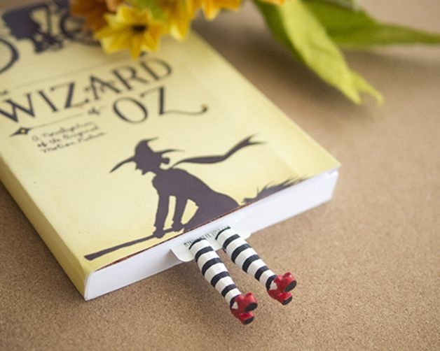 Wicked witch bookmark, inspired by Wizard of OZ  It is the craziest bookmark ever! It's not just a bookmark , it's a perfect topic-starter, piece of fun, and bright present for anyone who read...