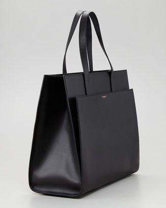 Saint Laurent Flat Shopping Tote Bag, Black - Bergdorf Goodman  Diese und weitere Taschen auf www.designertaschen-shops.de entdecken