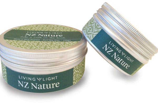 NZ Nature Soy Travel Tins from Living Light Candles New Zealand