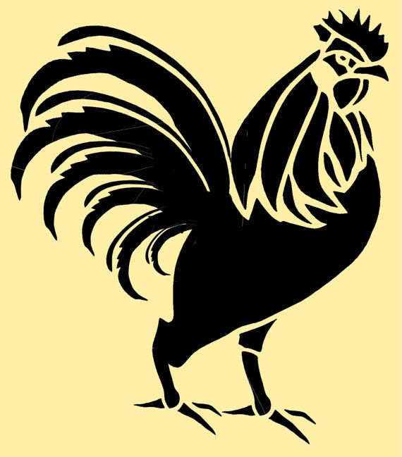 Rooster Stencil 10 Inch. via Etsy.