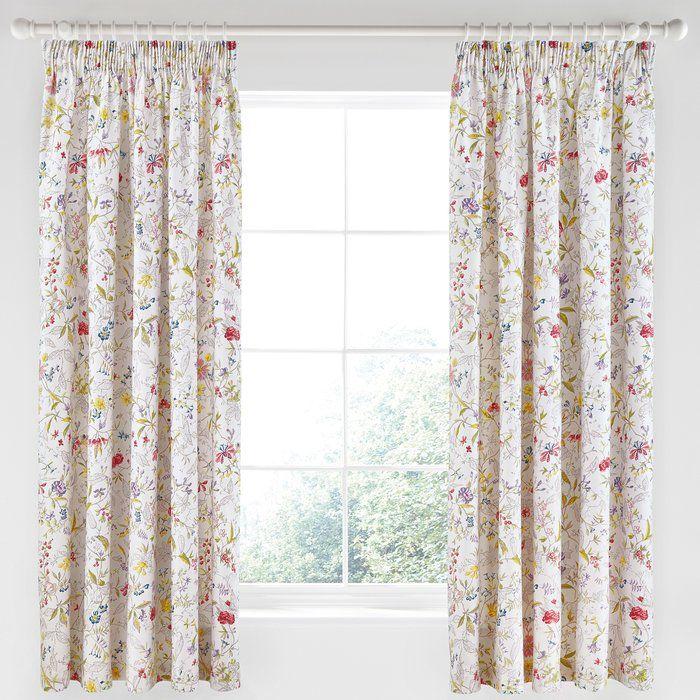 Botanica Pencil Pleat Semi Sheer Curtains
