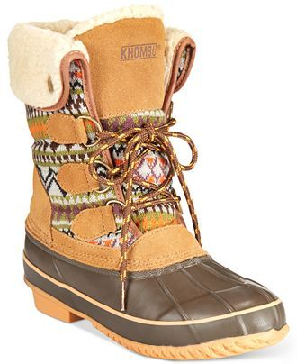 Khombu Maya Cold Weather Faux-Fur Boots - Outdoor Shoes - Shoes - Macy's
