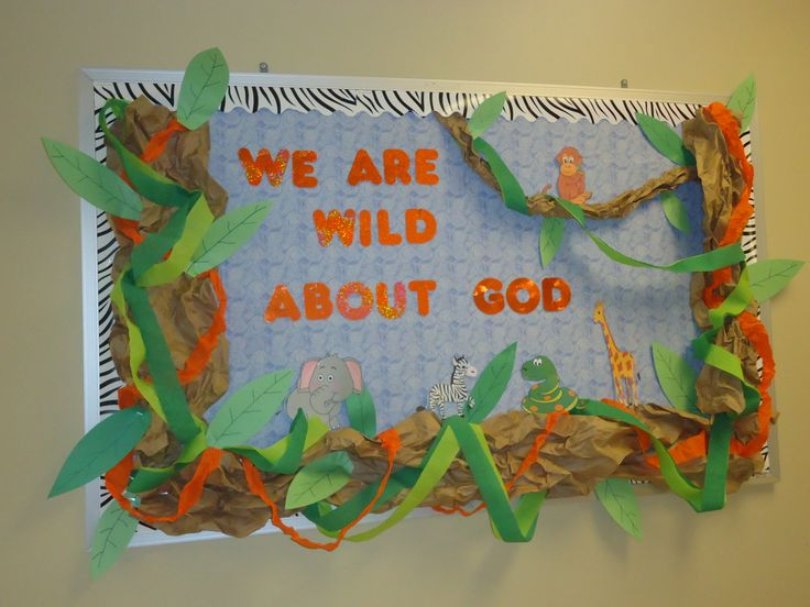 Christian Bulletin Board, Zoo Bulletin Board, Jungle Bulletin Board, Preschool, Animal Bulletin Board