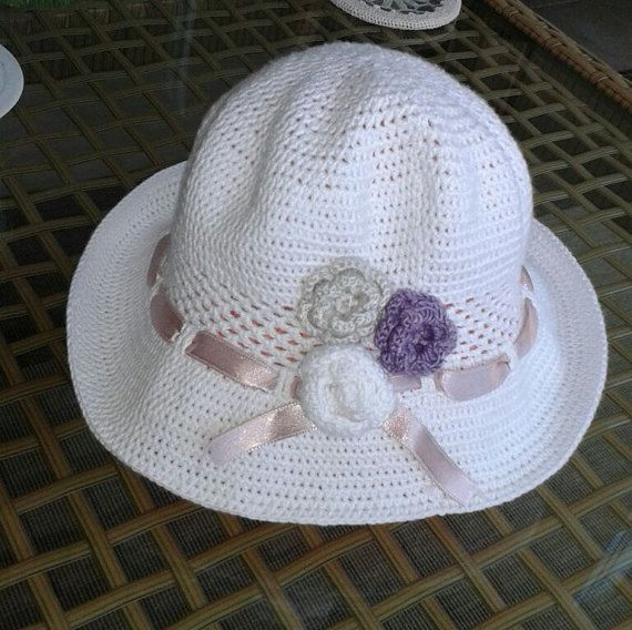 Sun hat crochet baby girl and mum summer hat by NORTHsKNITTINGs