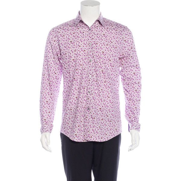Pre-owned Paul Smith Floral Print Dress Shirt (€68) ❤ liked on Polyvore featuring men's fashion, men's clothing, men's shirts, men's dress shirts, purple, mens dress shirts, men's flower print shirt, mens floral dress shirts, mens floral print dress shirt and paul smith mens shirt
