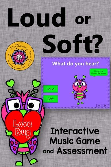 Music Game! Working on aurally identifying dynamics with your elementary music classes? You and your students are going to fall in love with this dancing bug! Perfect anytime and especially in February around Valentine's Day.