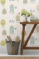 Multi birdcage wallpaper (Next) £15