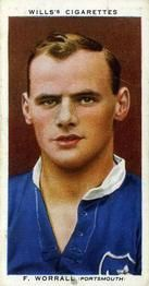 1935-36 W.D. & H.O. Wills Association Footballers #49 Fred Worrall  Front