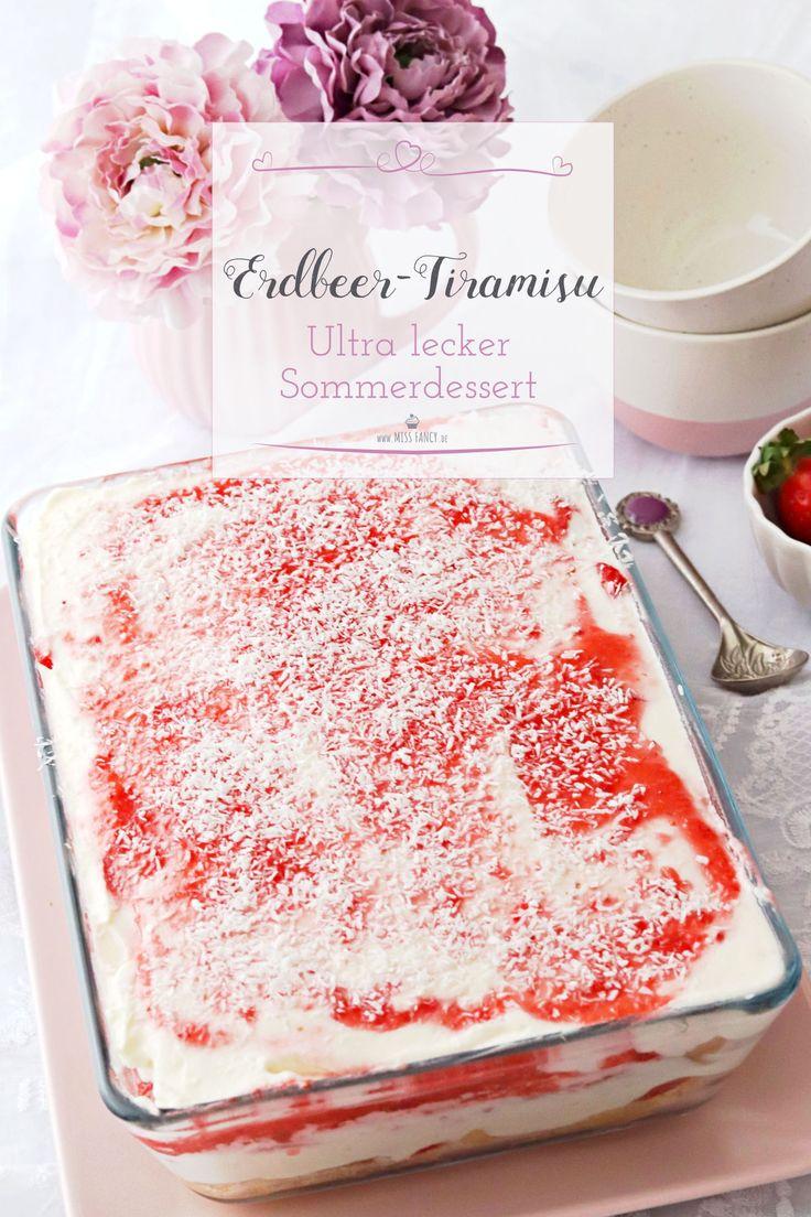 Sommerdessert: Erdbeer-Tiramisu mit Kokosraspeln