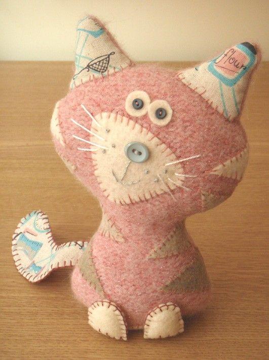 pink cat #cat #kitten #kitty #felt #DIY