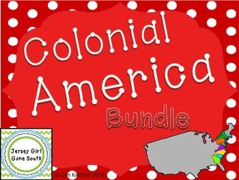 This amazing Colonial America bundle includes everything you need to teach your students about Colonial America! Includes: -New England Colonies PowerPoint and Note Set -Middle Colonies PowerPoint and Note Set -Southern Colonies PowerPoint and Note Set -Colonial Vocabulary PowerPoint and Note Set -Colonial America Classroom Poster Set (3 Posters Included) -New England Colonies Internet Scavenger Hunt WebQuest -Middle Colonies Internet Scavenger Hunt WebQuest ...