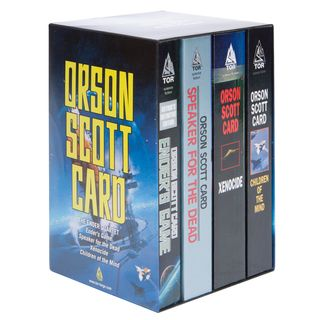 The Ender Quartet by Orson Scott Card. This is probably my favorite series of all time.