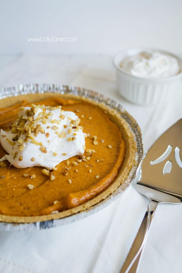Must try Pumpkin Cheesecake Ecstasy dessert, so good! Put this sensational double layer pumpkin pie on your fall to eat list, yum! Great Thanksgiving dessert or easy fall recipe!