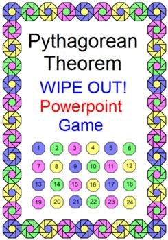 This is a powerpoint game on the Pythagorean Theorem and its Converse. THIS IS FREE IN THE PYTHAGOREAN THEOREM BUNDLE. Use as a game (22 problems) where students will lose points 2 times or use as a review (24 problems). I've included 32 problems to choose from.