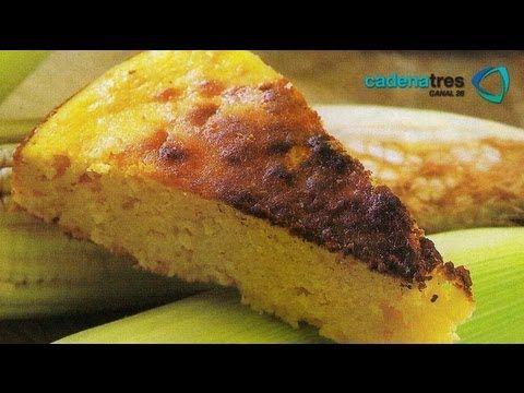 Receta para preparar pudding de elote. Receta postres mexicanos / Mexican dessert recipe