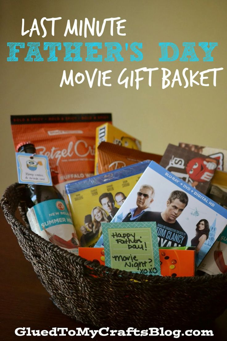 Last Minute Father's Day DVD Movie Gift Basket Idea