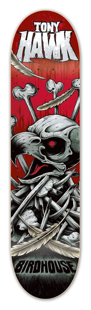 Tony Hawk:                    Bonepile Deck            Birdhouse Skateboards