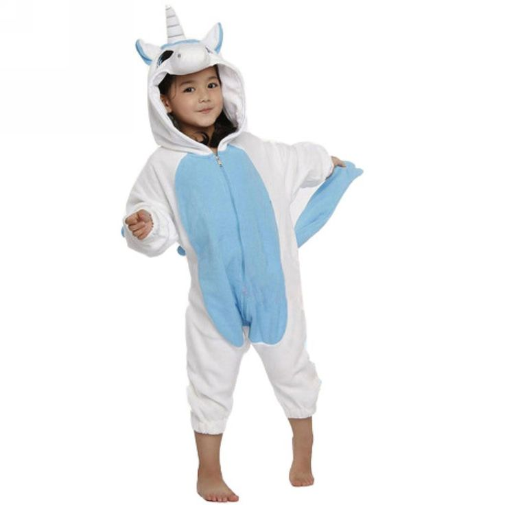 Blue Unicorn Onesie for Kids Pajamas