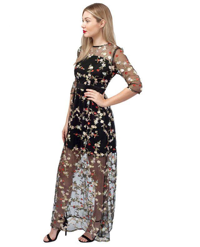 020138d98478 RENT FLORAL EMBROIDERED MAXI DRESS | HIRESTREETUK.COM | Balls, Bops ...