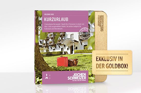 Kurzurlaub für 2: Erlebnis-Box von Jochen Schweizer