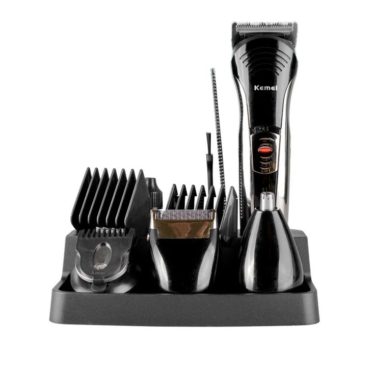Professional Kemei KM-590A 7-in-1 Electric Shaver Grooming Beard Hair Clipper Cutting Men's Razor Hair Trimmer Kit