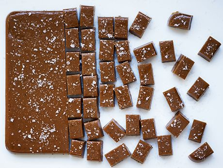 Bourbon-Sea Salt Caramels Recipe | Epicurious.com