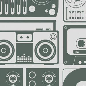 retro boom box wallpaper