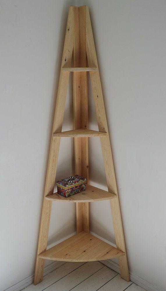 Retro Hand Corner Ladder gemaakt zoals rekken van PobiShop op Etsy