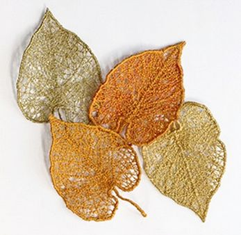 autumn/winter: Aspen leaf by Joyce Drexler (made with sewing machine and water soluble stabilizer)